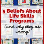 5 Beliefs About Life Skills Programs (and why they are wrong) picture of mini schedules for doing the laundry