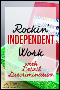 Using matching that requires attending to multiple details is a great way to increase the difficulty of independent work tasks for those students who need a bit more. Tips for using them and examples included.