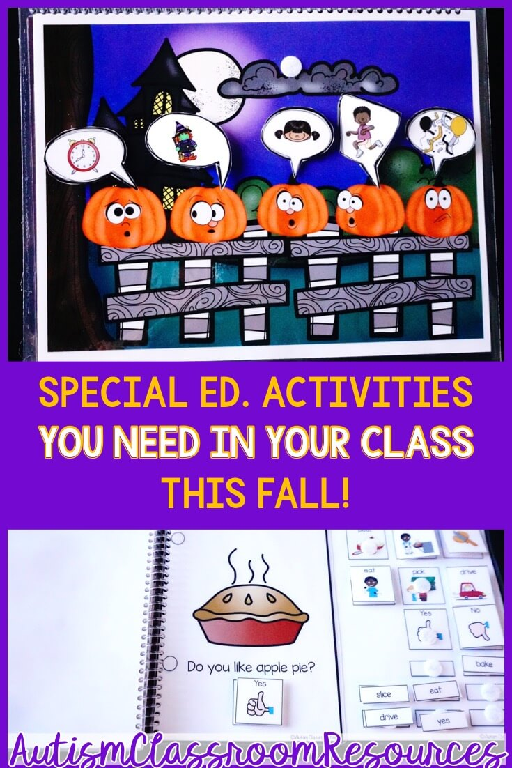 Fall Special Ed activities You need in your class.