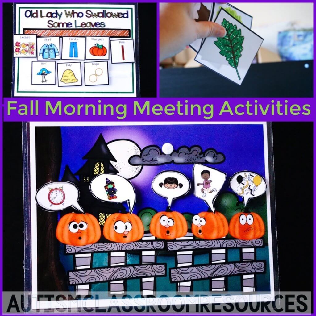 Fall Morning Meeting Activities