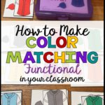The key to age-appropriate tasks, even when we are teaching basic skills like color matching, is to think about how they are used in the real world. #functionalskills #lifeskills #colormatching #matchingcolors #filefolderactivities #worktasks