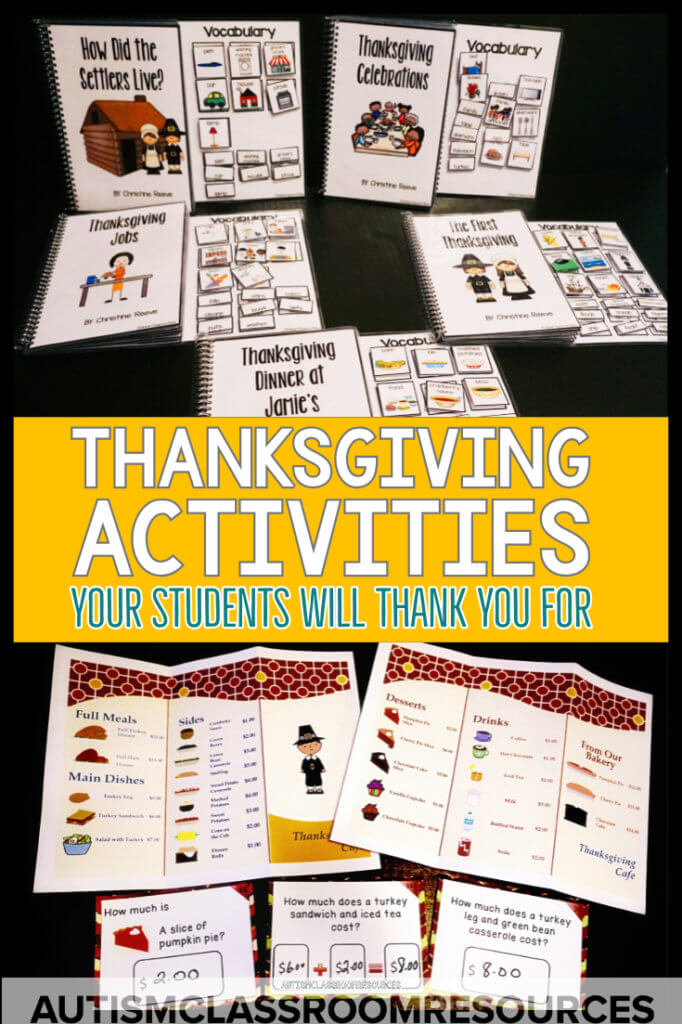 Thanksgiving activities that your students wiil thank you for