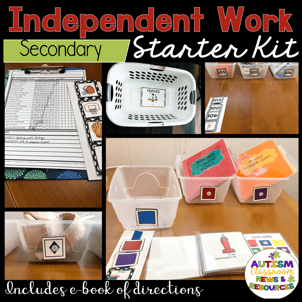 Everything you need to get your secondary special education classroom started with independent work.