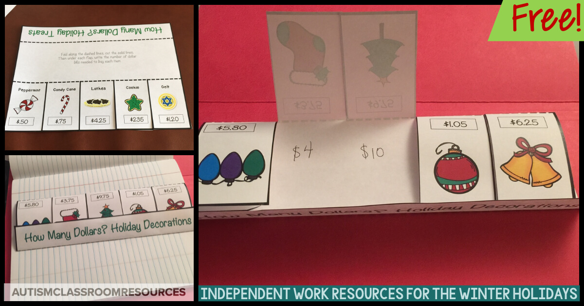 These foldables are free. Such a cool way to get students engaged with using the next collar up strategy for purchasing items. Click through to grab them for your classroom. #nextdollarup #christmasfoldables