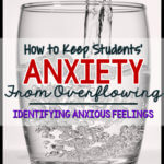 Anxiety in our students can be really tough. Imagine it's like a glass of water. When the water is near the top, it's more likely to overflow. That's when you get behavior issues. The first step is identifying anxious thoughts and feelings. This post has some great ways to help your students do that. #autism #anxiety