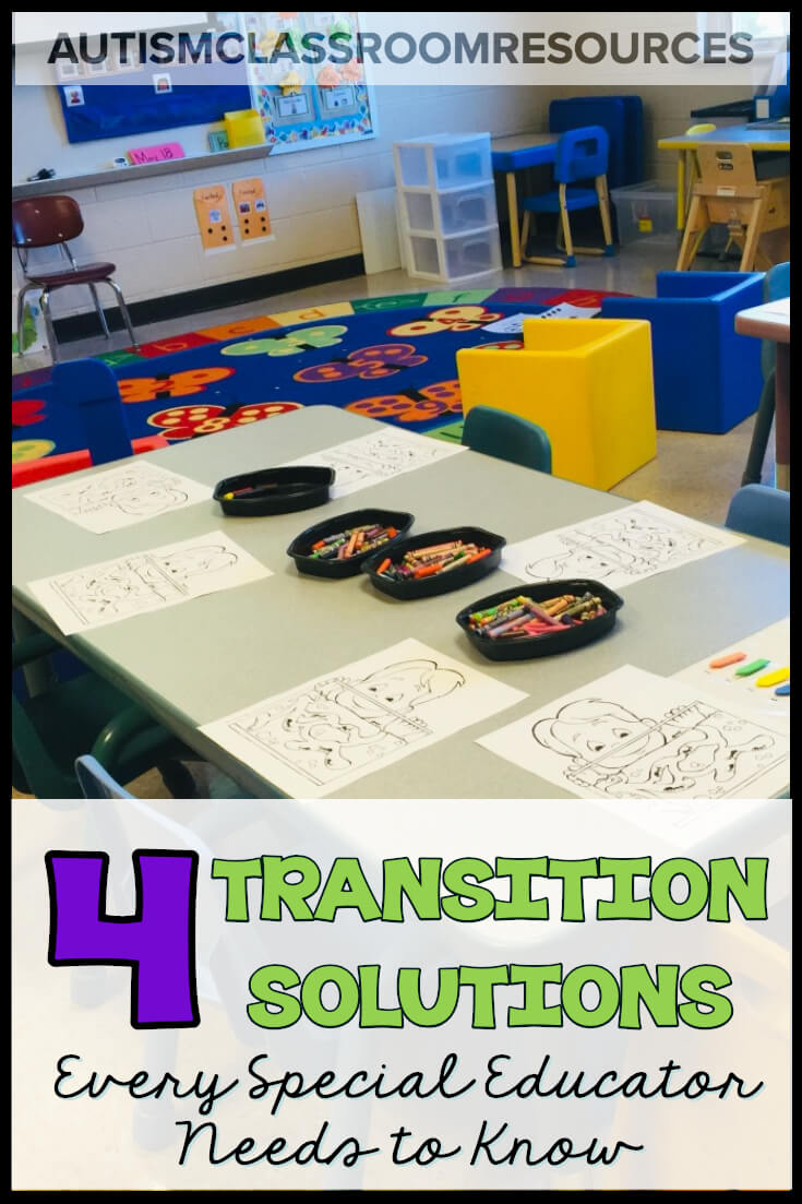 Do you struggle with transitions in your special ed classroom? Have you ever been running the classroom and the activity is going really well? And then you go to transition to the next activity and it falls apart? This post has got you covered! Check out this post for 4 solutions for common transition problems that get you off track. #specialeducation #classroommanagement