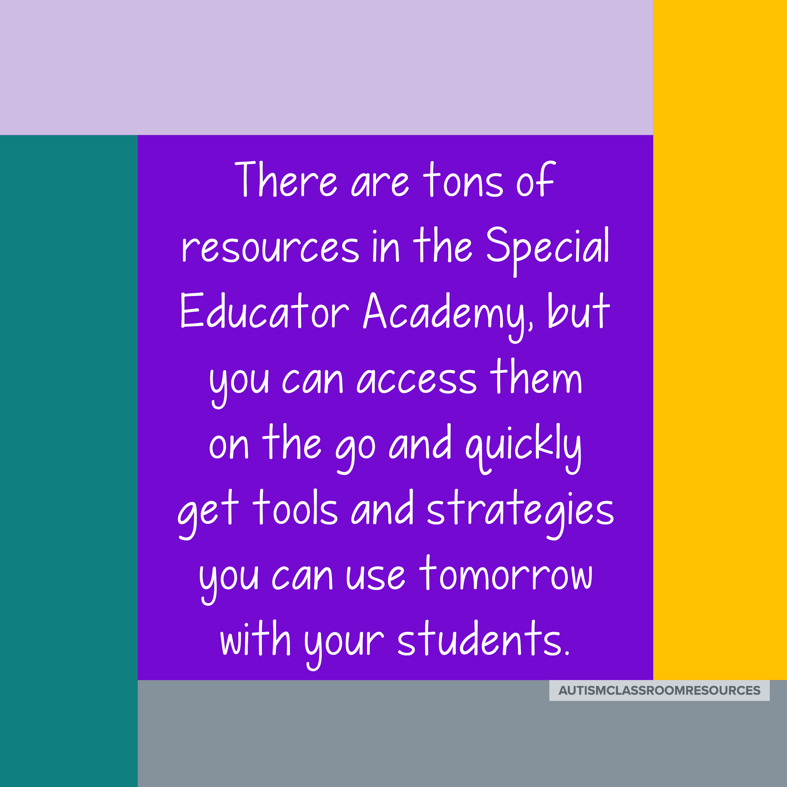 There are tons of resources in the Special Educator Academy, but you an access them on the go. Quickly get tools and strategies you can use tomorrow with your students. #specialeducation #specialeducatoracademy