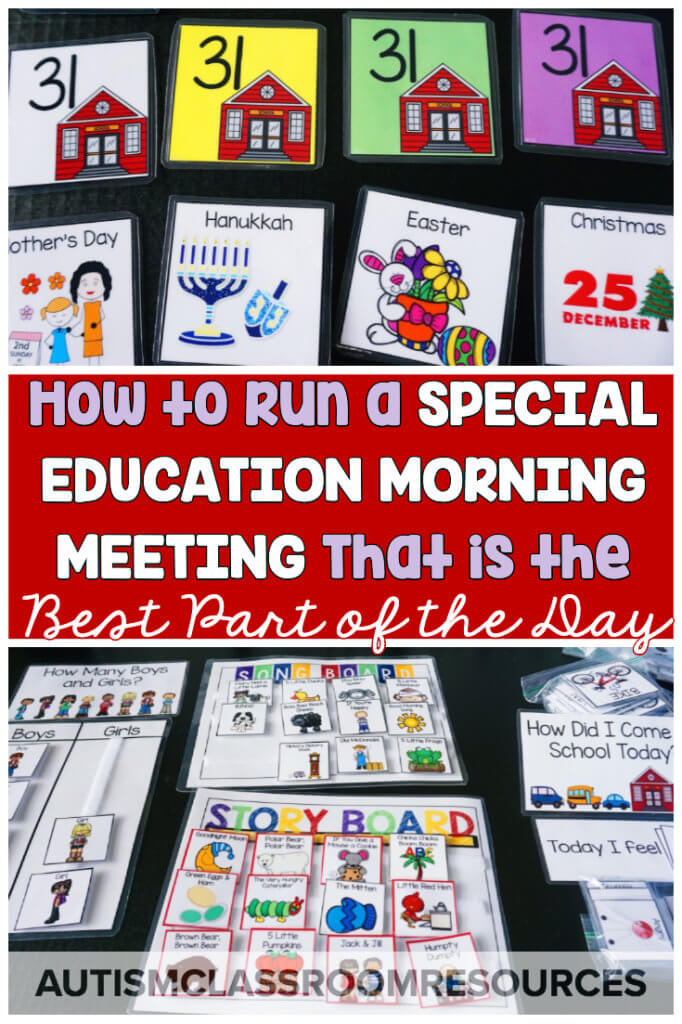 If morning meeting or whole group activities have ever intimidated you as a special education teacher, you are not alone. Trying to figure out meaningful group activities for such diverse populations can be tough. But this post can help with 10 steps to make it the best part of your day! #morningmeeting #specialeducation