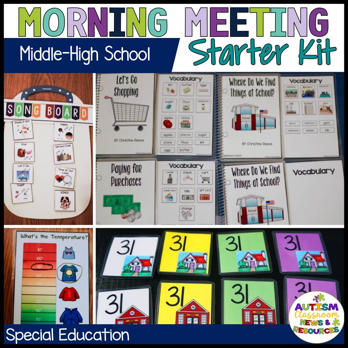 Morning meeting should be just as engaging in middle and high school special education classrooms as it is in elementary and preschool classes. But finding age-appropriate activities can be tough for older students. This kit will get you started.