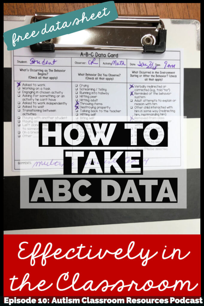 how to take abc data