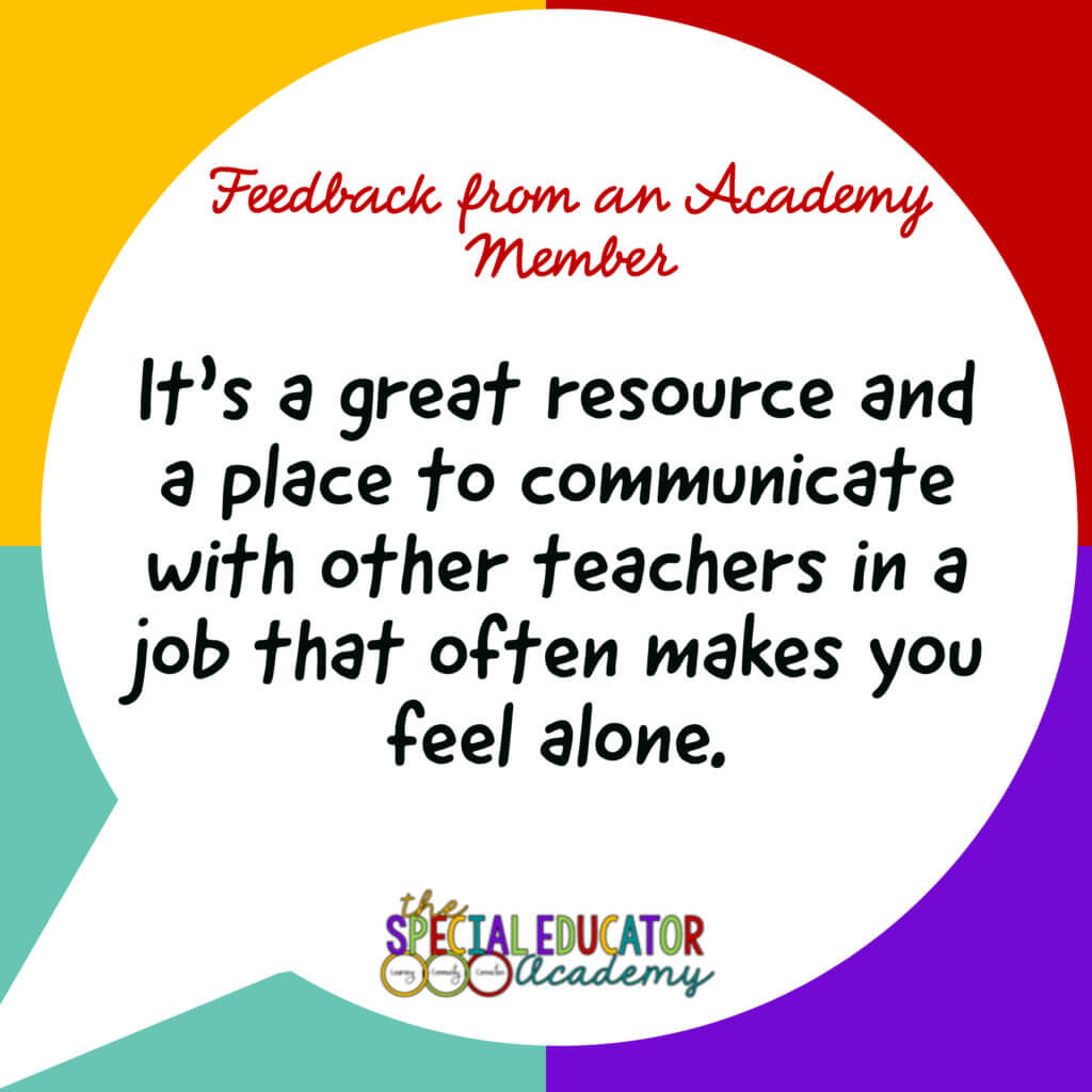 Feedback from an Academy Member. It's a great resource and a placee to communicate with other teachers in a job that often makes you feel alone.