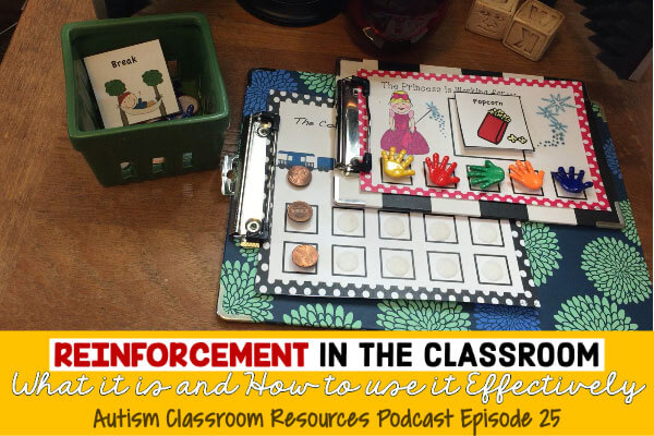 Podcast on Autism Reinforcement, Autism Classroom resources