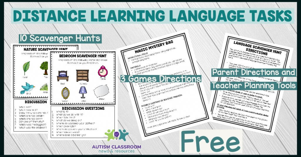 Distance Learning Language Tasks. 20 Scavenger Hunts. 3 Game Outlines. Directions for Teachers and Parents
