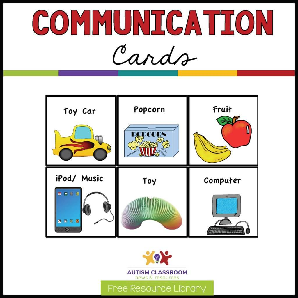 Communication Cards free Resource library