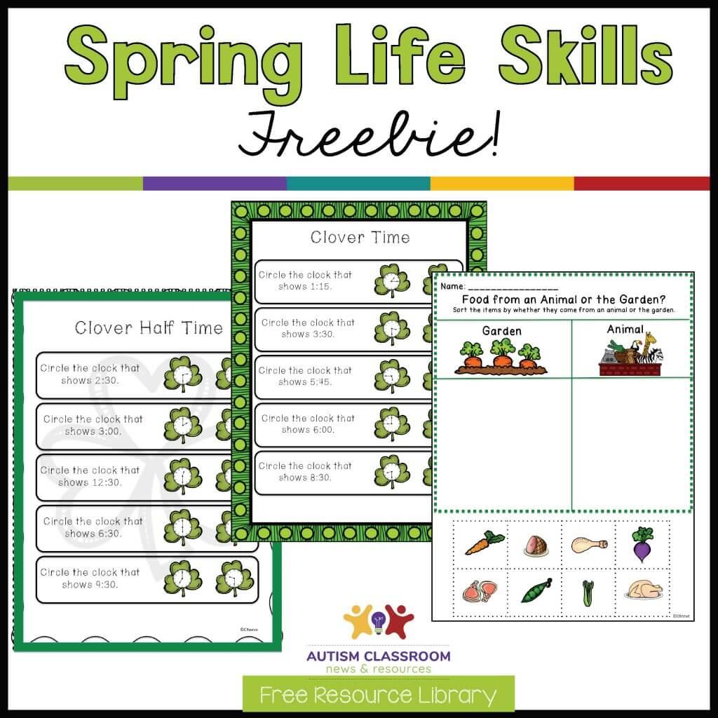 Spring Life Skills Freebie