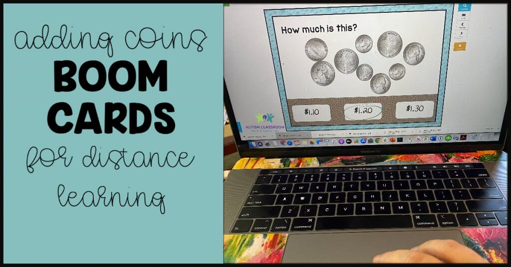 adding coins Boom Cards for distance learning