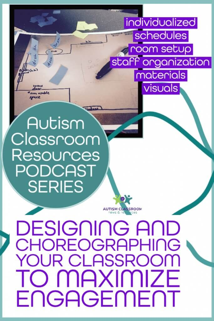 Designing and choreographing your classroom. Autism Classroom Resources Special Education Design Podcast Series. Individualized schedules, room setup, staff organization, material, visuals
