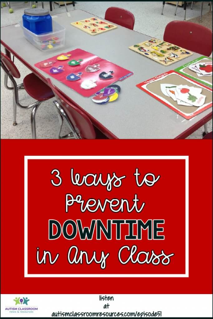 3 Ways to Prevent Downtime in Any Classroom. Autism Classroom Resources Podcast Episode 51