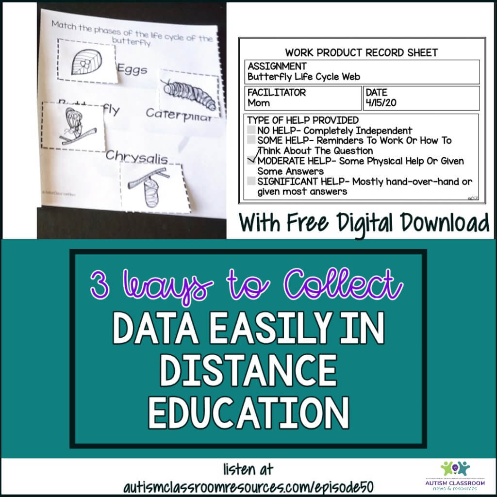 3 Ways to Collect Data Easily in Distance Learning. Autism Classroom Resources podcast episode 50