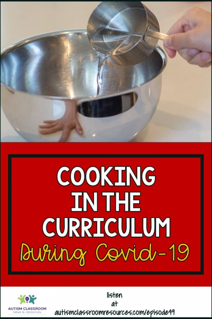 Cooking in the Curriculum During Covid-19 [child pouring from a measuring cup into a mixing bowl]