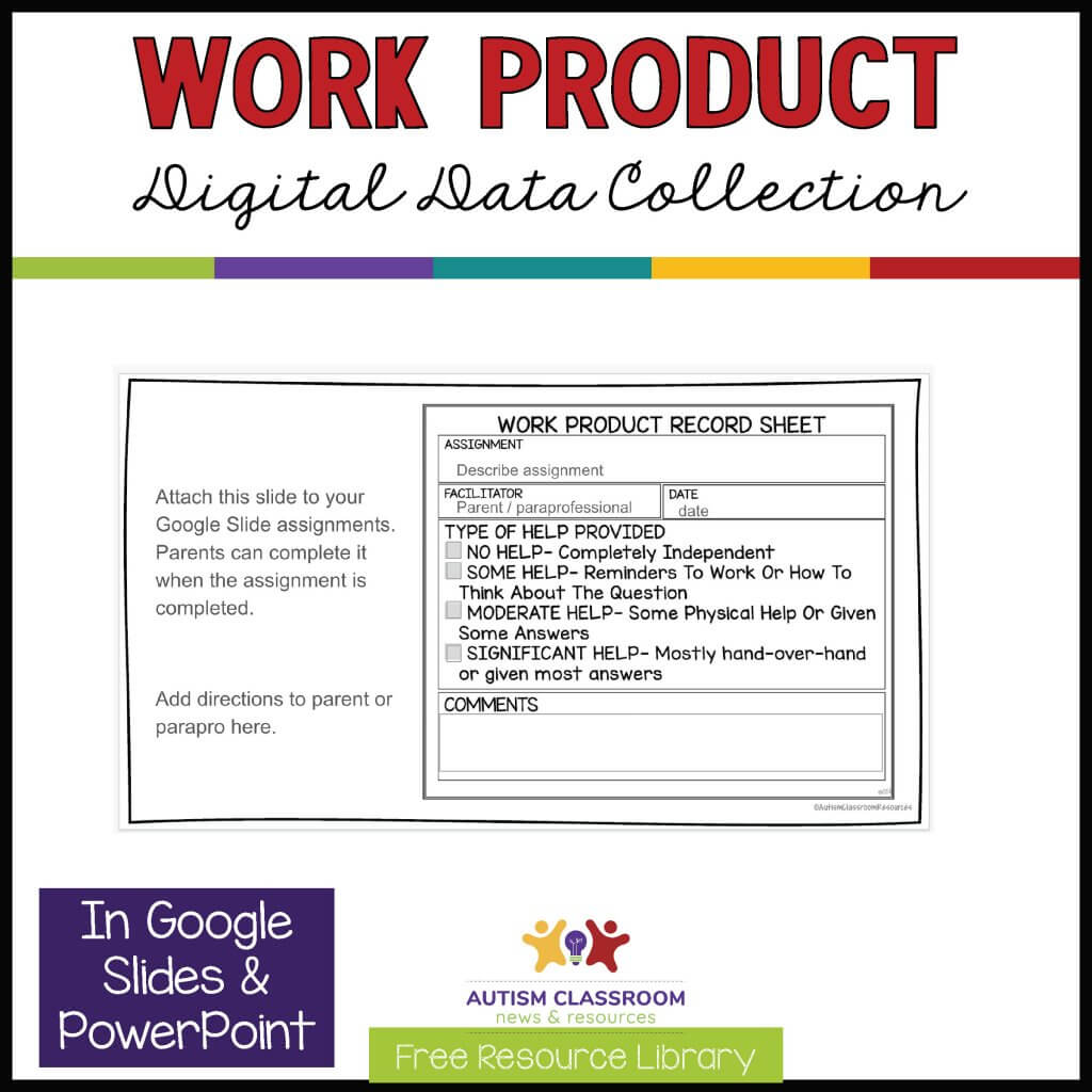 Work Product Digital Data Collection. In Google Slides and PowerPoint
