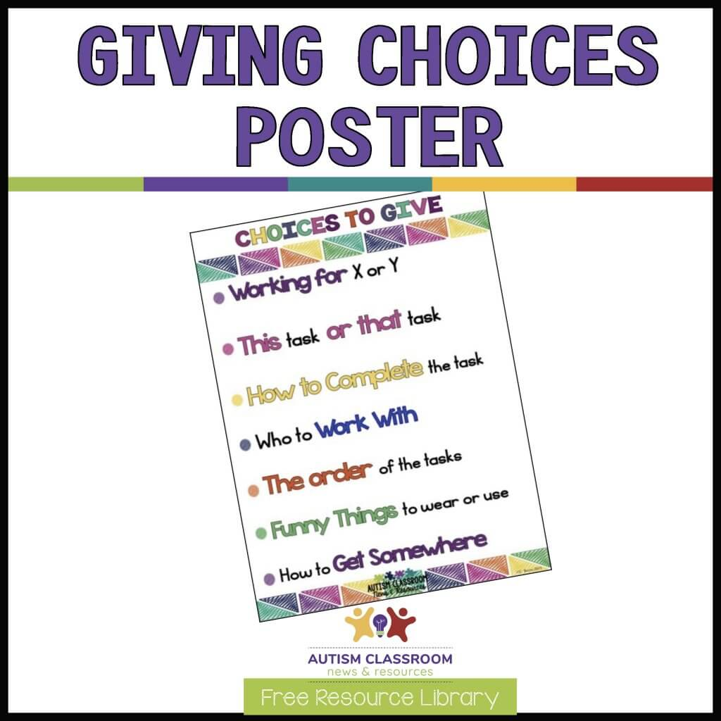 Giving Choices Poster Example-download free