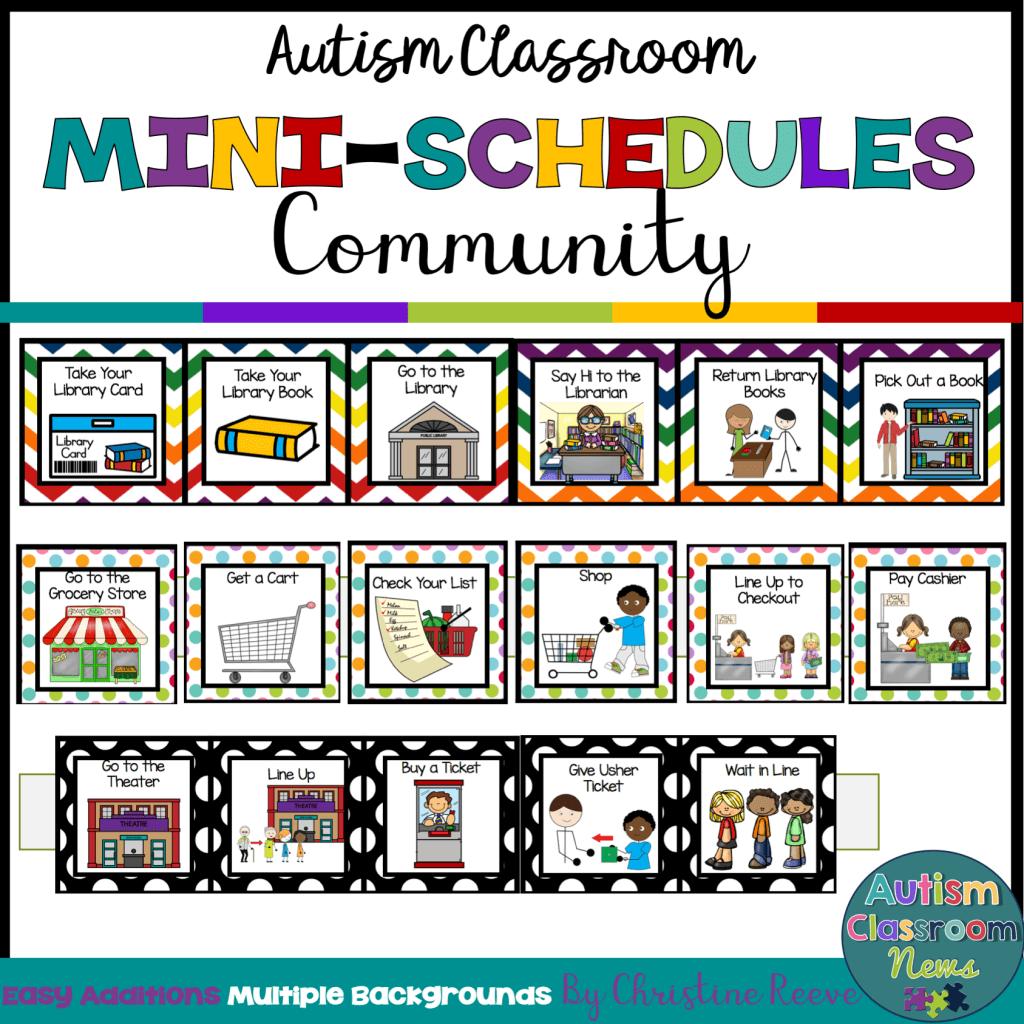 Autism classroom Mini Schedules Community