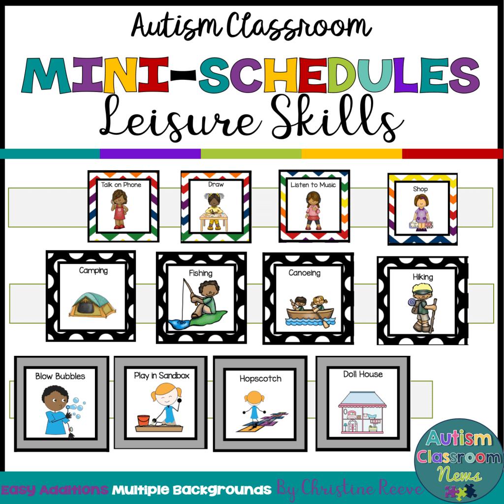 Autism Classroom Mini Schedules Leisure Skills