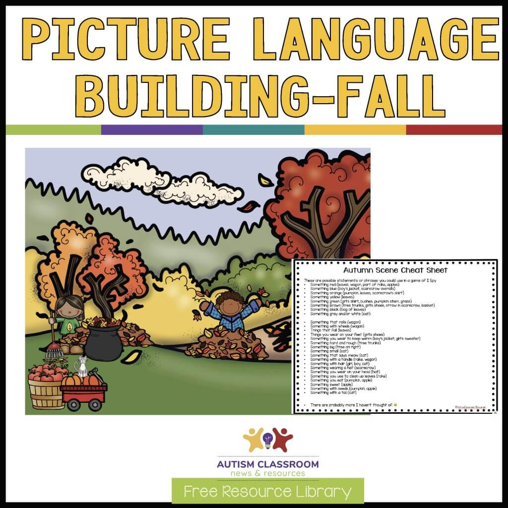 Picture language Building Fall-Free I Spy