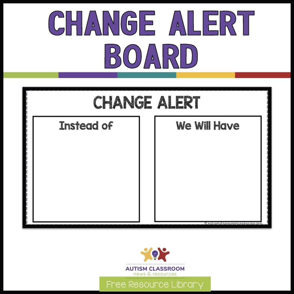 CHANGE ALERT BOARD