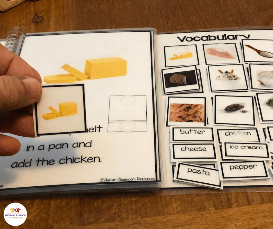 matching butter in interactive book