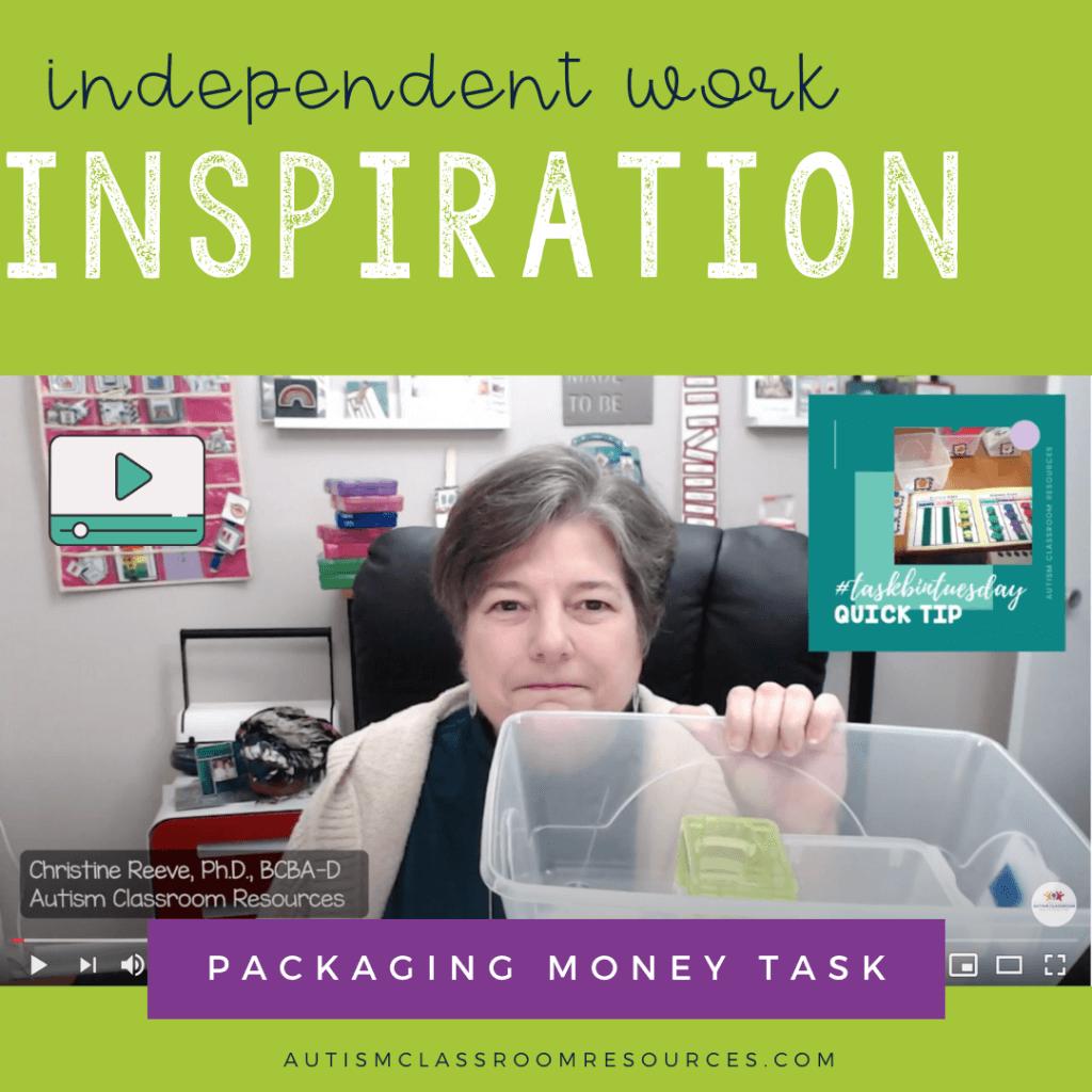 Independent work Inspiration: Money Packaging Task