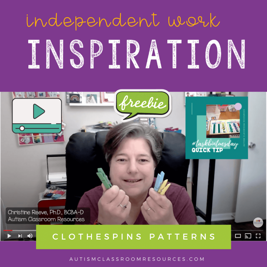 Independent work inspiration Clothespin Patterns with free download