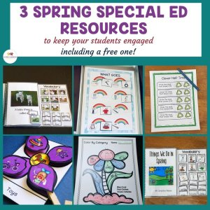 3 Spring Special Education Resources to engage your students and one is free