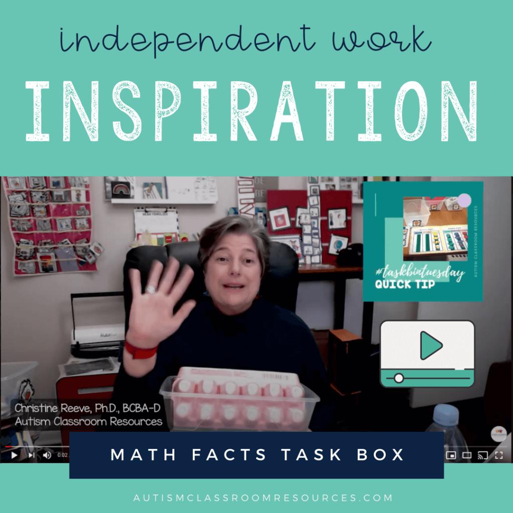 Math Facts Task Box Independent Work Inspiration