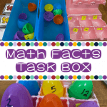 Math Facts Task Box Independent Work Inspiration