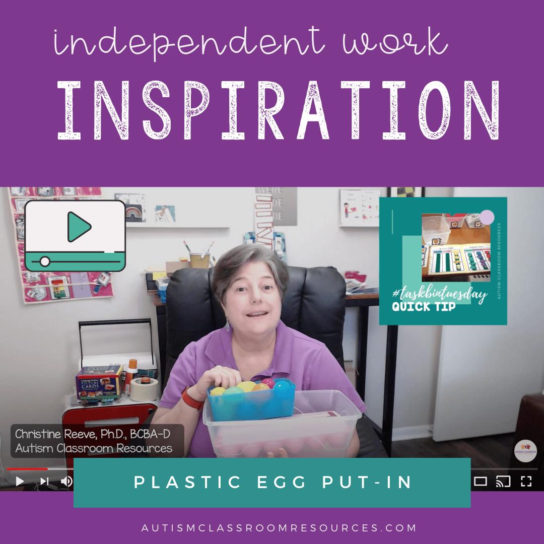 IW Inspiration PLASTIC EGG PUTIN TASK