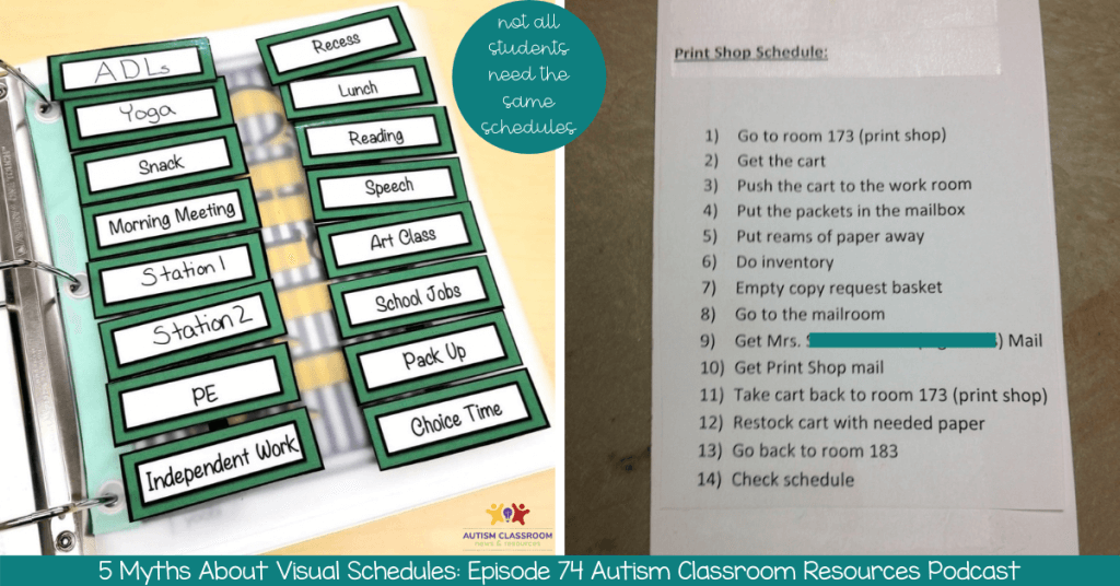 Visual Schedules and Autism: Busting 5 Myths and Setting the Record Straight