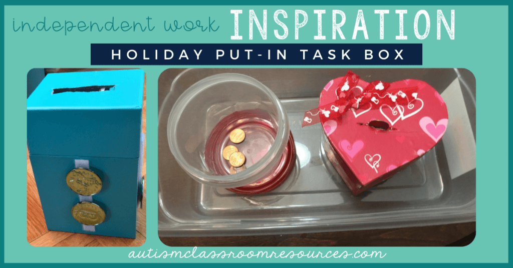 Independent Work Inspiration: Holiday Put-In Task Box