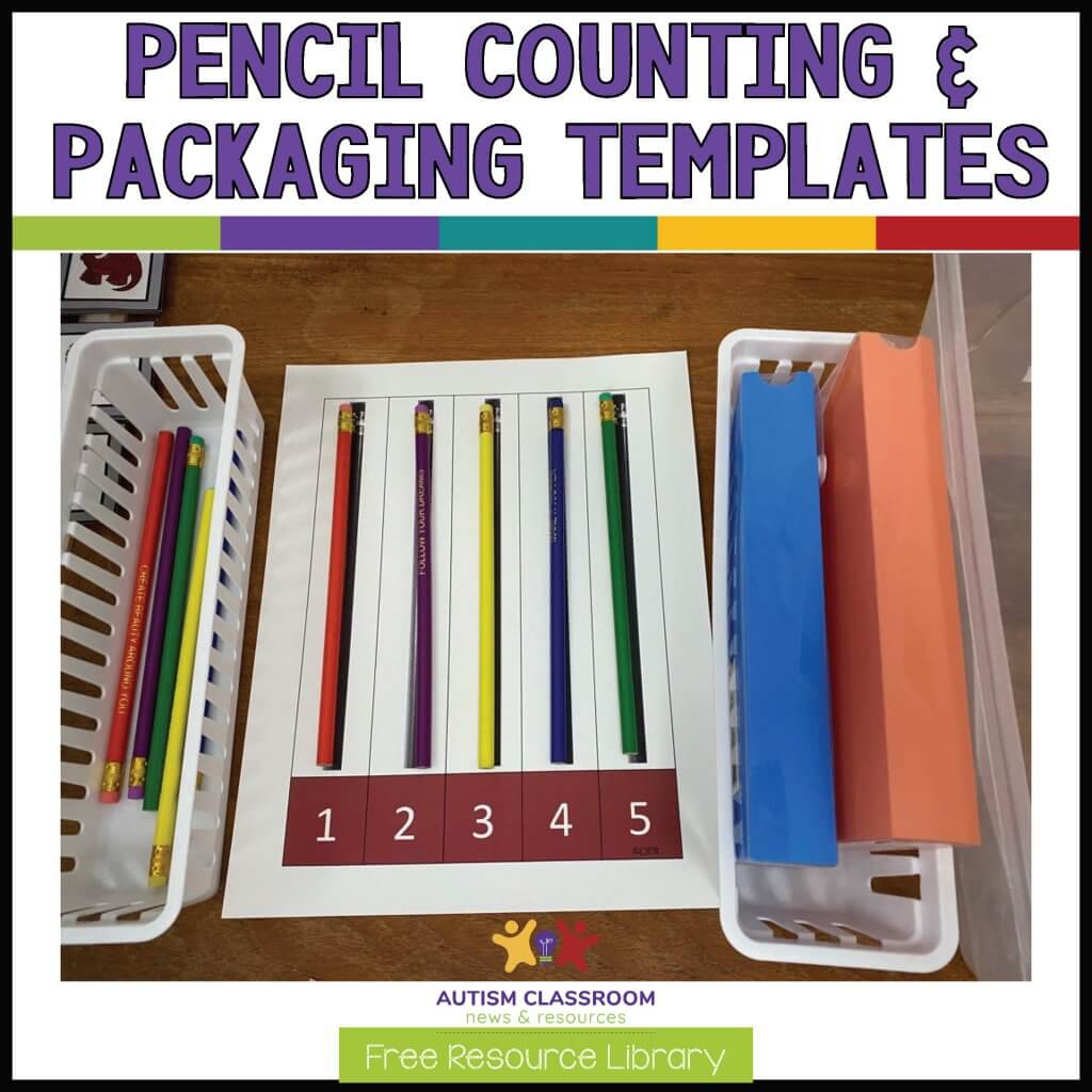 Pencil Counting and Packaging Templates