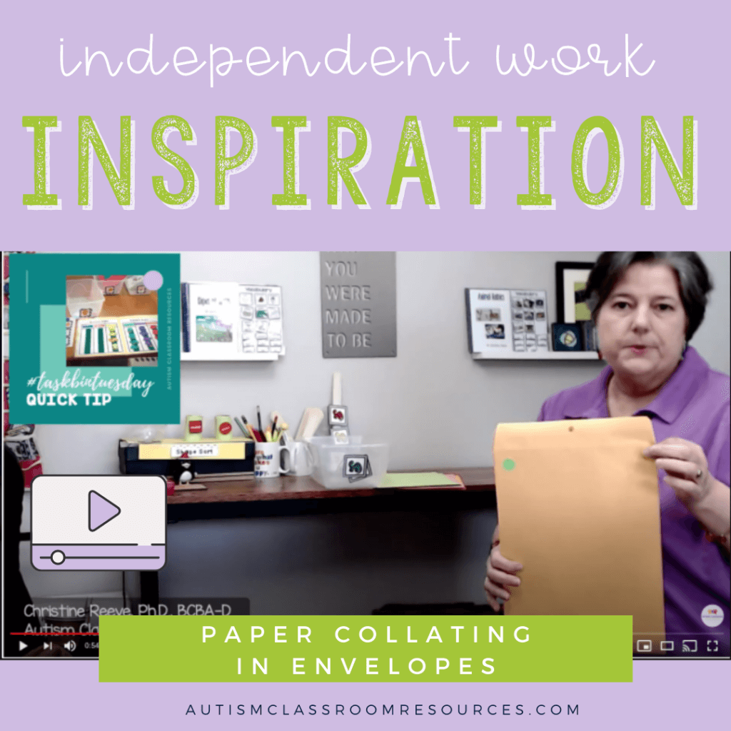 Independent Work Inspiration: Paper Collating in Envelopes: Easy Office Work Task