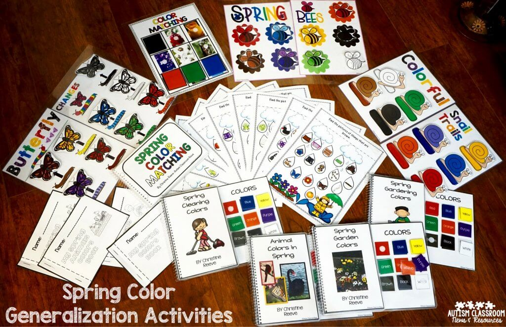 Spring Color Generalization Activities for Early Childhood