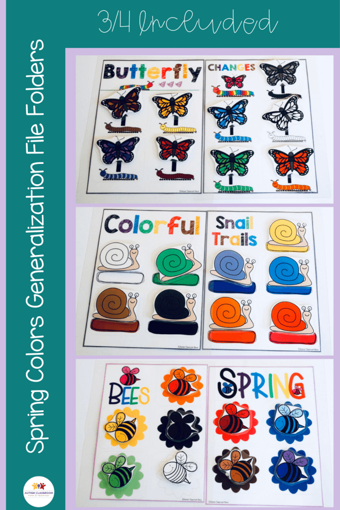 Spring Colors Generalization File Folders Early Childhood Activities 3 of 4