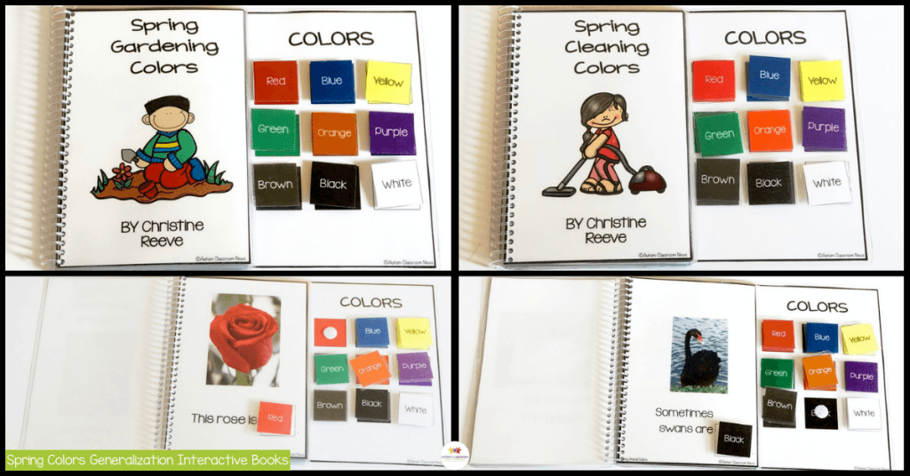 Spring Colors Generalization Interactive Books