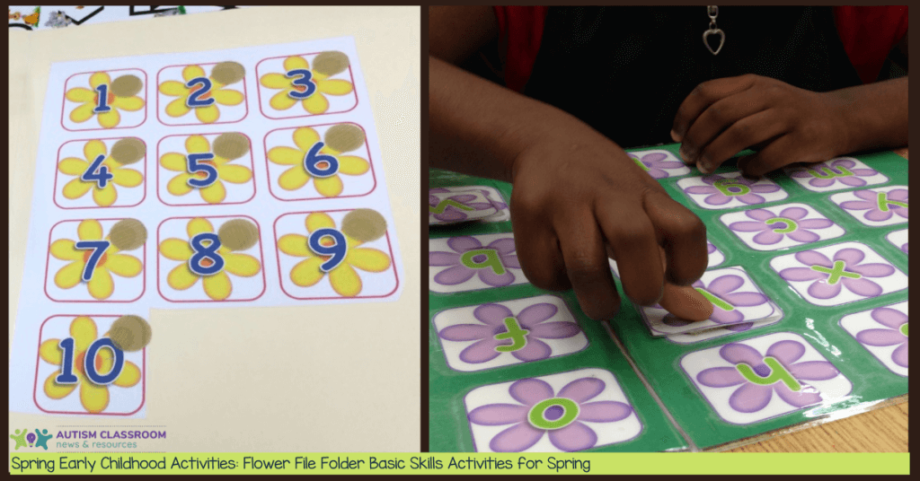 Spring Early Childhood Activities: Flower File Folders