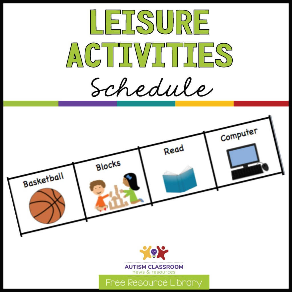 Leisure Activities Schedule