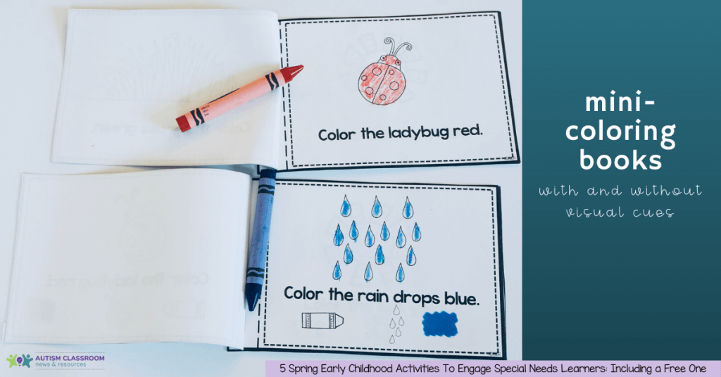 mini-coloring books: Spring Early Childhood Activities for Early Childhood