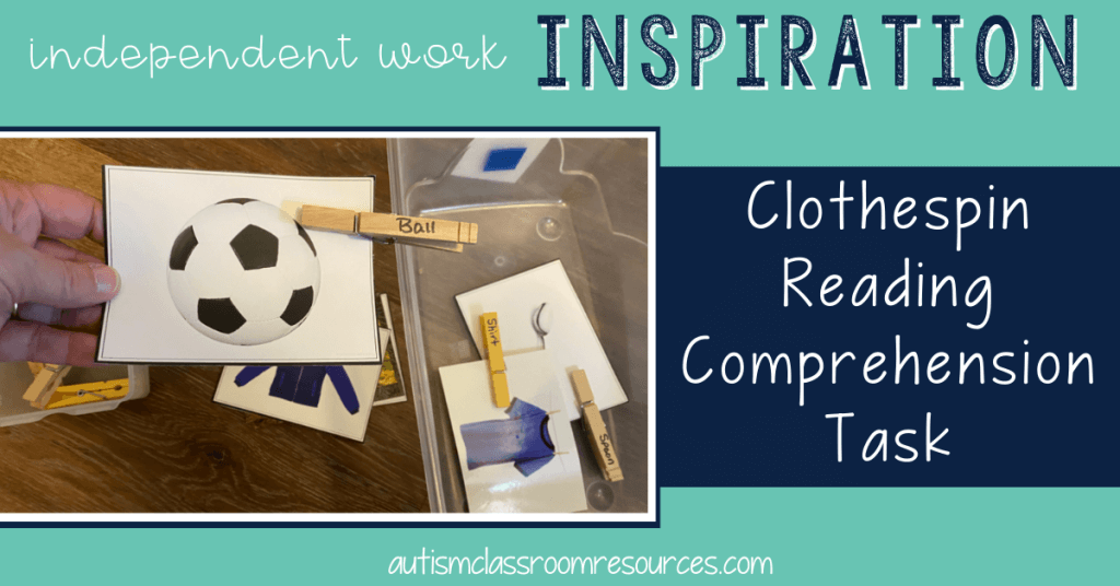 Match Words to Pictures with Clothespins: Independent Work Inspiration