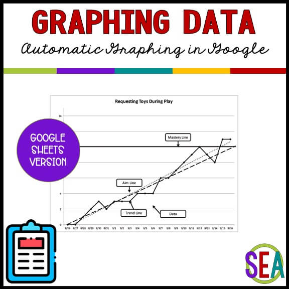 Graphing Data with Google Sheets Template from the Special Educator Academy