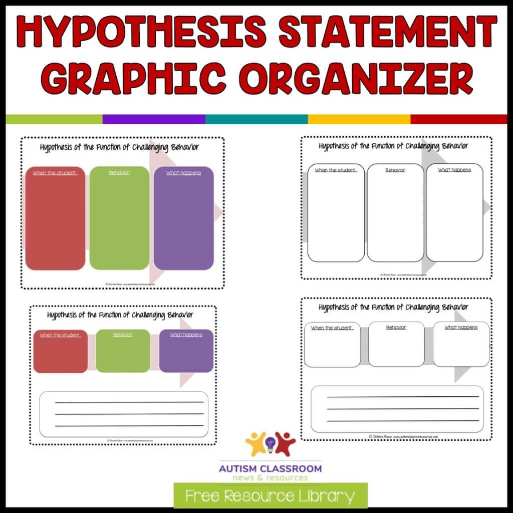 Hypothesis Statement  Graphic Organizer